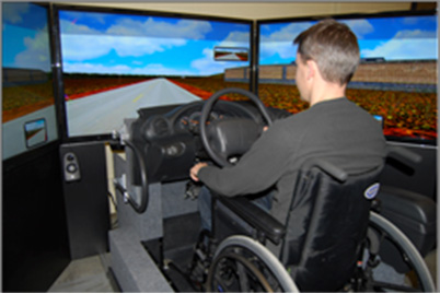 rehab car driving simulation research